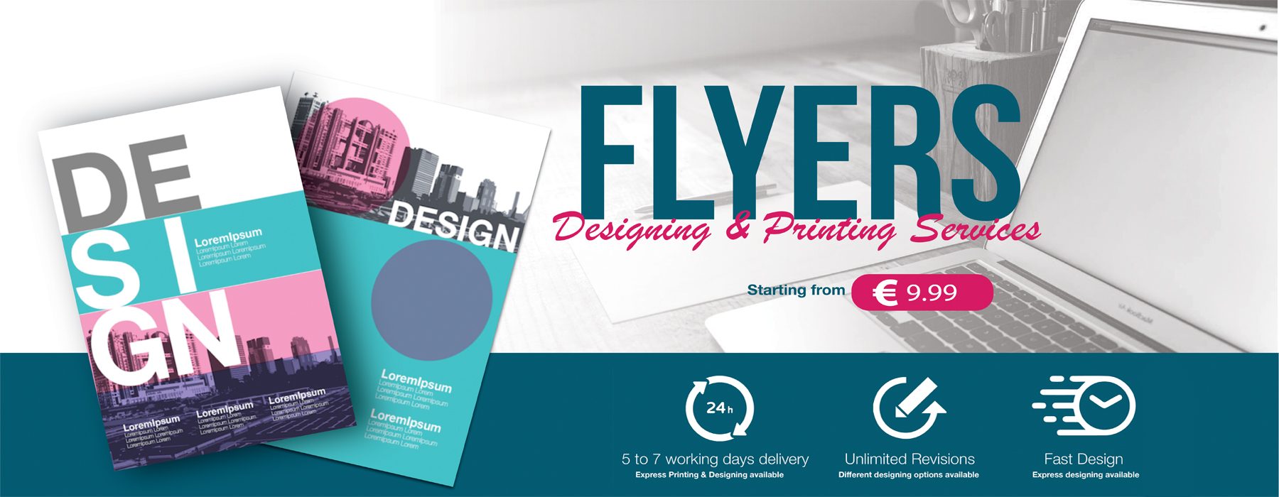 Flyer printing & designing offer