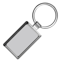 Rectangular Shaped Metal Keychain