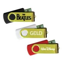 USB Flash 35SG (Gold Swivel USB Flash drive) - hmiUSB25SG