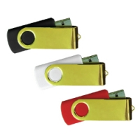 USB Flash 35SG (Gold Swivel USB Flash drive) - hmiUSB25SG