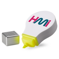 Plastic Tex marker with light design and yellow highlighter - hmi29171