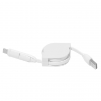 2in1 USB Cable 296 - hmi29296-02 (White)