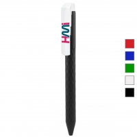 Promotional Plastic Pen 060 (Prism design with color body and white clip) - hmiPN060