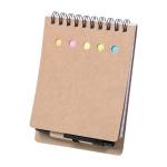 Eco friendly notepad with 50 lined sheets included a pen - Umweltfreundlicher Notizblock mit 50 gefütterten Blättern inklusive Stift | hmi29326