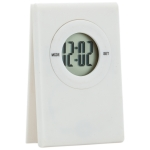 Digital table Clock with note clip on the top (White) - Digitale Tischuhr mit Notizzettel-Clip auf der Oberseite (Weiß) | hmi35055