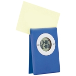 Digital table Clock with note clip on the top (Blue) - Digitale Tischuhr mit Notizzettel-Clip auf der Oberseite (Blau) | hmi35055