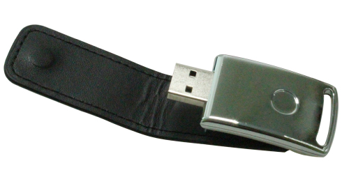 Stylish Leather USB Flash 8GB Black