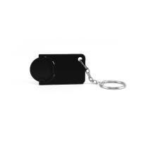Schlüsselanhänger 039 (Einkaufswagen Münze Schlüsselanhänger) - hmi47039-01 (Schwarz)