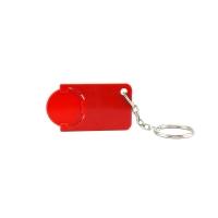 Schlüsselanhänger 039 (Einkaufswagen Münze Schlüsselanhänger) - hmi47039-04 (Rot)