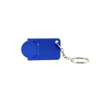 Schlüsselanhänger 039 (Einkaufswagen Münze Schlüsselanhänger) - hmi47039-07 (Blau)