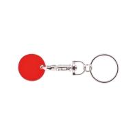 Schlüsselanhänger 059 (Einkaufswagen Münze Schlüsselanhänger) - hmi47059-04 (Rot)