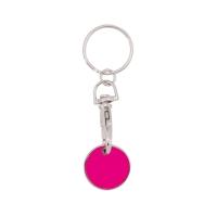 Schlüsselanhänger 059 (Einkaufswagen Münze Schlüsselanhänger) - hmi47059-06 (Rosa)