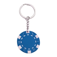 Pokerchip Schlüsselanhänger 143 - hmi47143-07 (Blau)