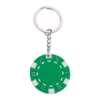 Pokerchip Schlüsselanhänger 143 - hmi47143-09 (Grün)