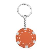 Pokerchip Schlüsselanhänger 143 - hmi47143-11 (Orange)