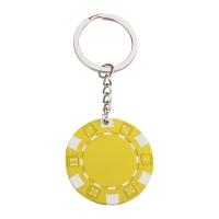 Pokerchip Schlüsselanhänger 143 - hmi47143-12 (Gelb)