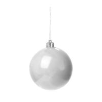 Weihnachtskugel 098 (8cm Weihnachtsschmuck) - hmi99098-02 (weiß)