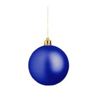 Weihnachtskugel (Weihnachtsschmuck 8cm) - hmi99099-07 (Blau)