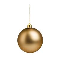 Weihnachtskugel (Weihnachtsschmuck 8cm) - hmi99099-14 (Gold)