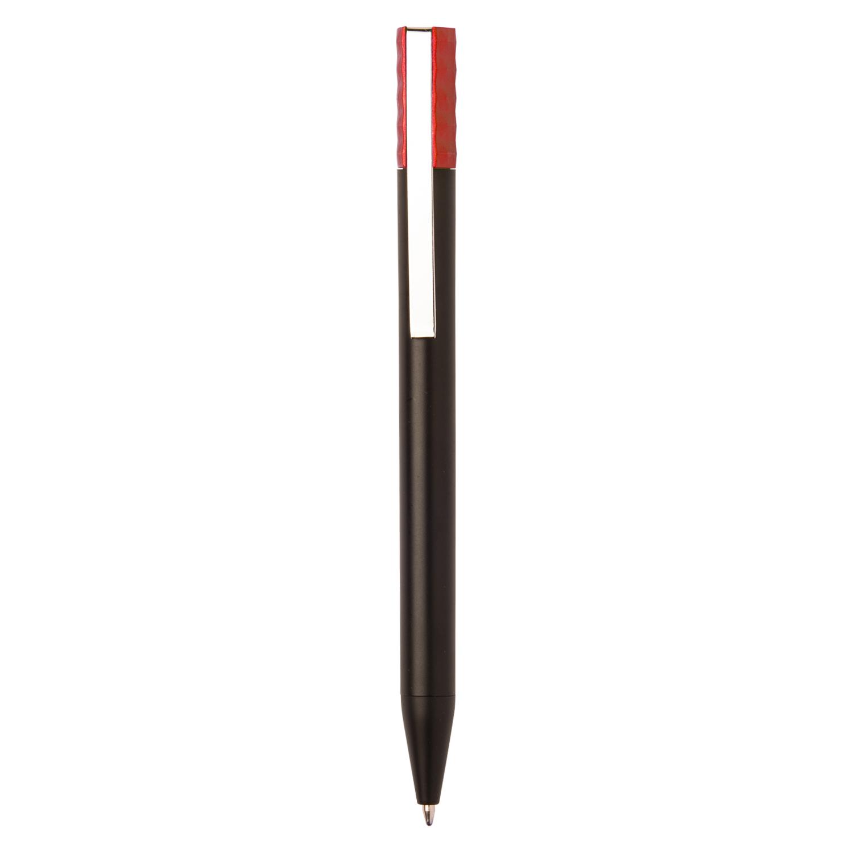 Promotional Plastic Pen 271 (Promotional black plastic pen) - hmi20271-04 (Red)