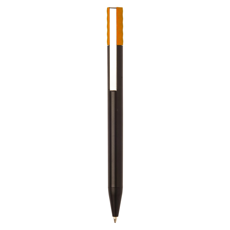 Promotional Plastic Pen 271 (Promotional black plastic pen) - hmi20271-11 (Orange)