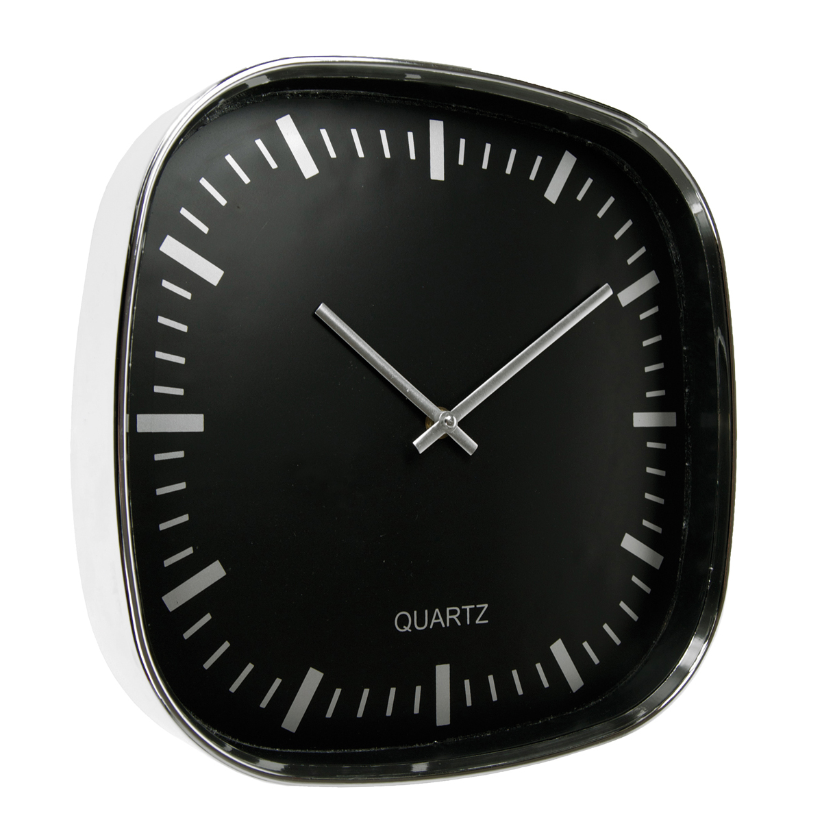 Plastic Wall Clock 30 - hmi36030-01 (Black)