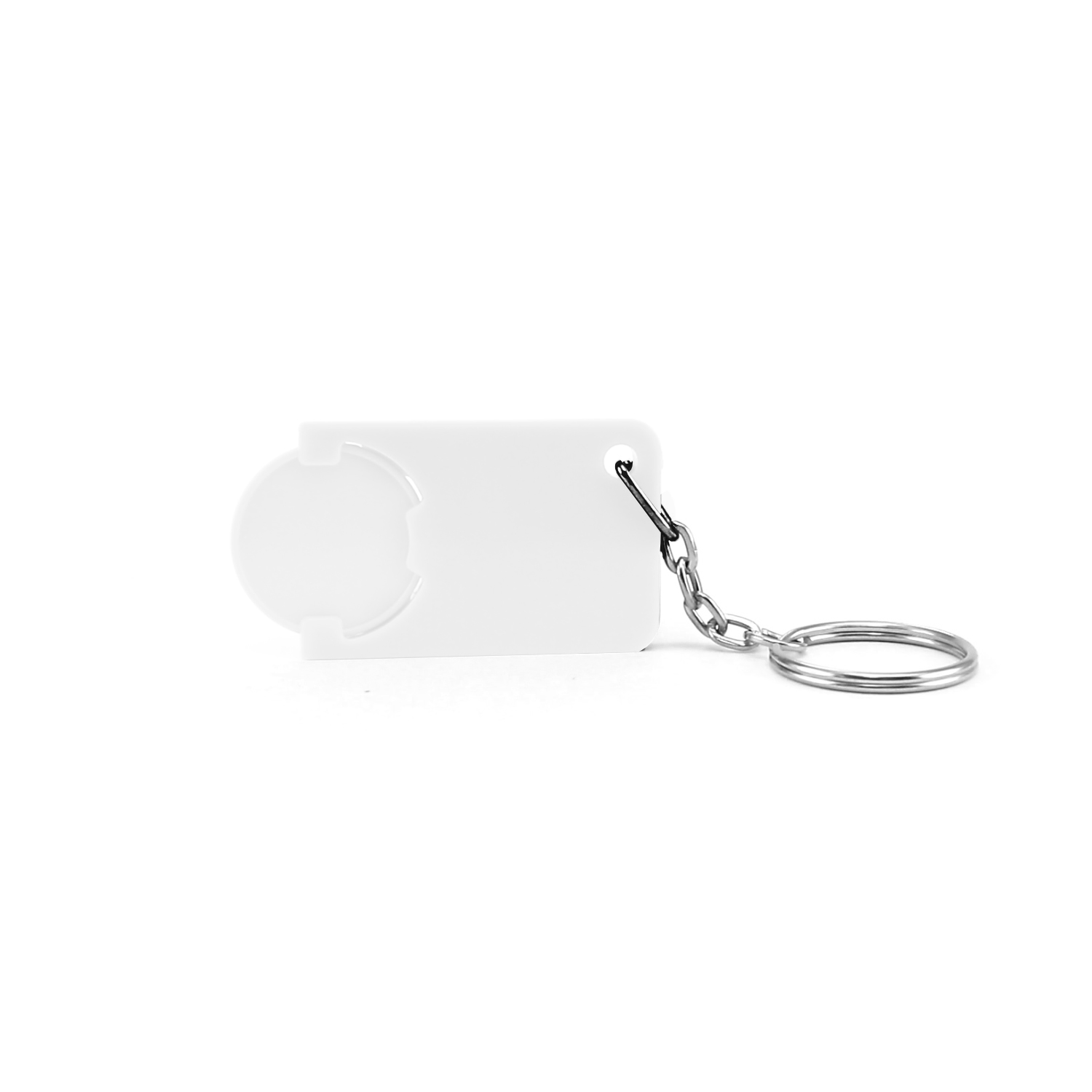 Keychain 039 (Shopping Trolley coin keychain) - hmi47039-02 (White)