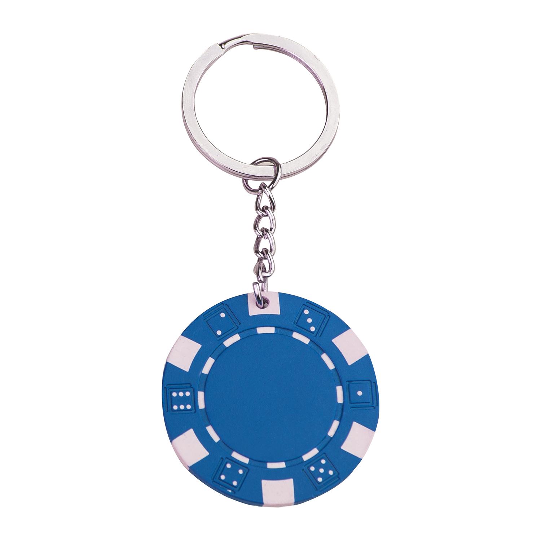 Poker chip keychain 143 - hmi47143-07 (Blue)