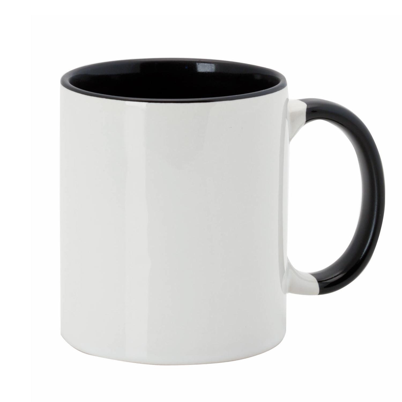 Mug 054 (350ml ceramic mug coated for sublimation) - hmi74054-01 (Black)