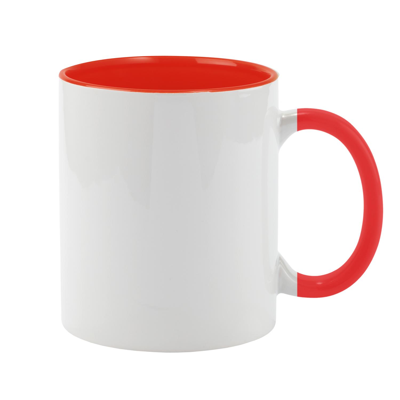 Mug 054 (350ml ceramic mug coated for sublimation) - hmi74054-04 (Red)