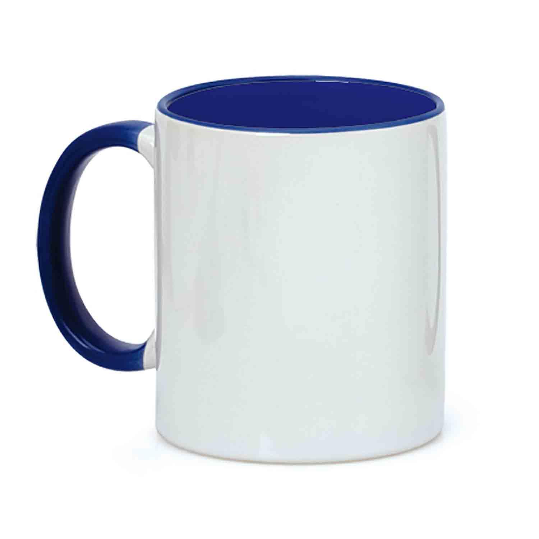 Mug 054 (350ml ceramic mug coated for sublimation) - hmi74054-07 (Blue)
