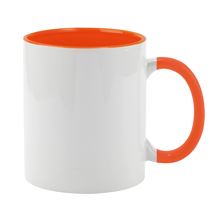 Mug 054 (350ml ceramic mug coated for sublimation) - hmi74054-11 (Orange)