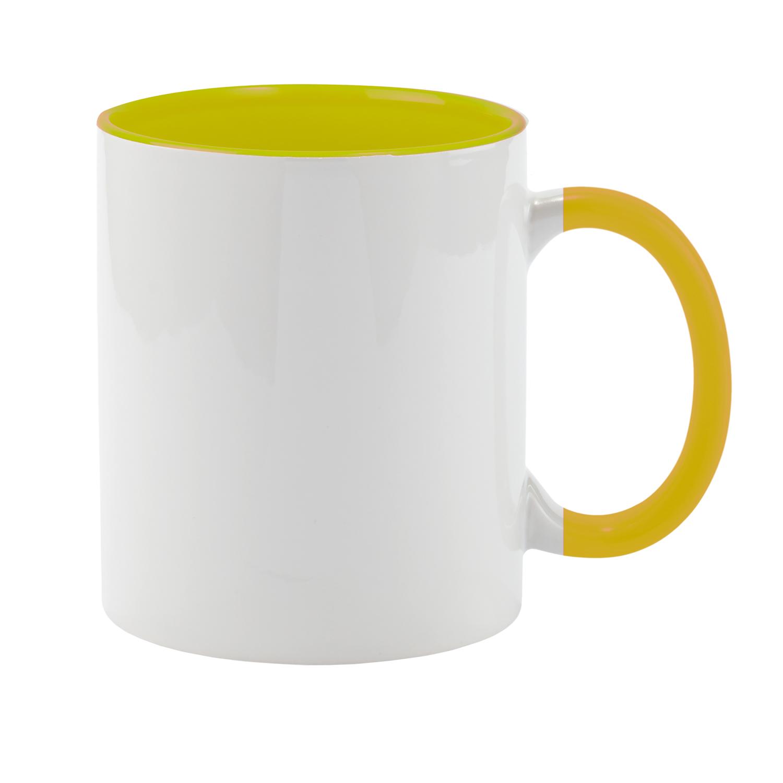 Mug 054 (350ml ceramic mug coated for sublimation) - hmi74054-12 (Yellow)