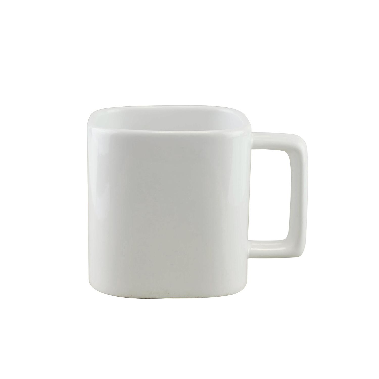 Square Mug 51 White (330ml ceramic Mug) - hmi74151-02 (white)