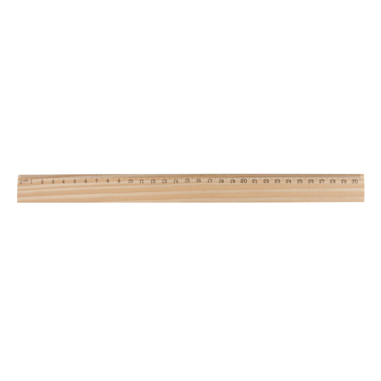 Wood Ruler 132 (Eco friendly item - 31 cm) - hmi96129-50 (wood)
